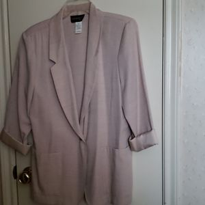 Ladies polyester rayon machice washable jacket